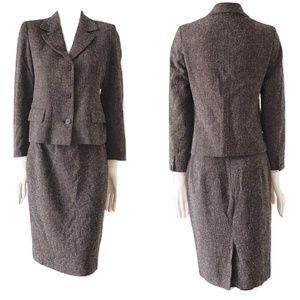 Max Mara Vigring Wool Blend Skirt Suit Jacket
